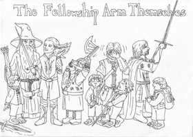 The Fellowship Arm Themselves by clockworkparadox