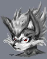 Wolf Portrait by SupaCrikeyDave