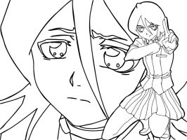 Rukia Lineart by Vectriss