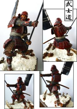 Samurai with yari (romeo models) painted by me by IttoOgamy