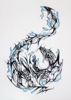 Dragon water tattoo design by MelodicInterval