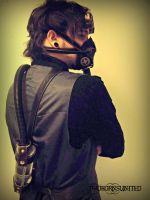 Steampunk mask, goggles, and tank w/belt for sale! by TwoHornsUnited