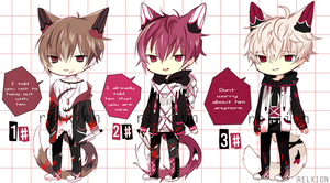 [AUCTION*CLOSED]Lineheart*54[Yandere-Set] by Relxion-kun