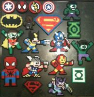 Perler Bead Avengers Spiderman Superman Batman by Rhys-Michael