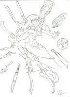 Rough Sketch - Humanized RPG Style Indonisty by ValorNomad