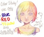 Primary Colors Plus White Study by Delight046