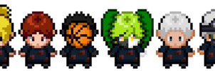 Akatsuki DP Overworld Sprites by CrimsonWolfmon