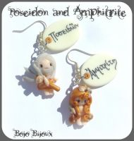 Poseidon  Amphitrite earrings by Bojo-Bijoux