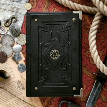 Demonologist's inverted pentacle journal by MilleCuirs