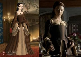 Anne's brown dress by LadyAquanine73551