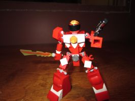 Red LEGO Ranger by AndiusMaximus