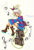Copic Practise 01 - Homika by LuaSentinel