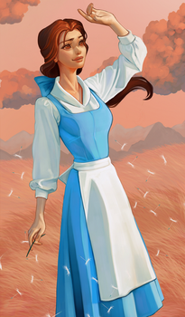 Belle - Beauty and the beast by Amethylia