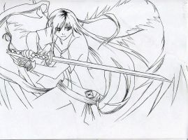 auty with her weapon by Captain-Kiryu