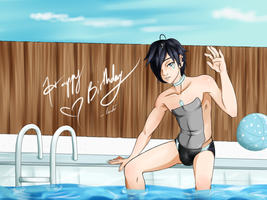 Gift: Poolside Atsushi by landiddy