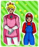 Mario and Prince Peach by TheMoseali
