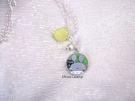 totoro cameo  necklace by elvira-creations