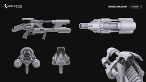 Project Z Grenade Launcher High poly by Voidspawnie
