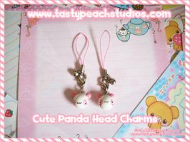 Cute Panda Head Charms by MoogleGurl