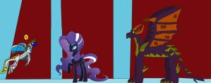 Spike's showdown against Malefor by Spartan545