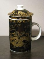 Tea Mug Black Dragon 01 by Ghost-Stock