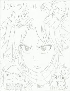 The Many Faces of Natsu Dragneel by iMafuichii