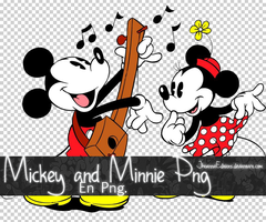 Old minnie and mickey png by JhoannaEditions