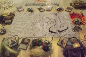 Dragon Maze Playmat by MonsterInk