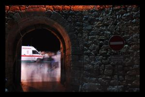 tunel on castel wall by xpurexheartx