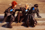 Axel Roxas Xion cosplay - At Twilight town by Rael-chan89