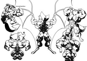 Monsters muscle mash by Gettar82