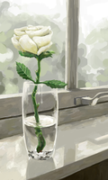 Symbolical White Rose by MixzaR