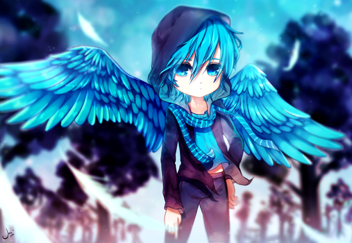 Blue Wings by Vaxeriz