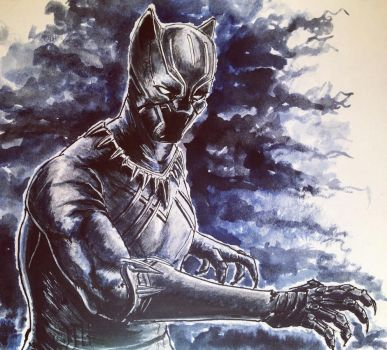 Black panther by leseraphin