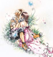 tidus and yuna kiss by Zita52