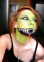 Lizard make up by Arisusandasu