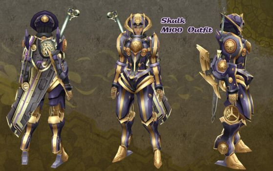 Xenoblade - Shulk M100 Outfit by dsync89