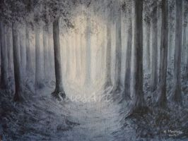 Forest in moon light by SueMArt