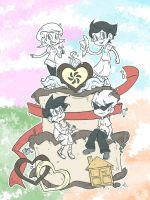 Homestuck - Alpha Kids and Cake by sanna-mania