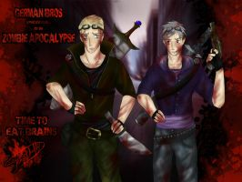 ZOMBIE APOCALYPSE GERMAN BROS by patty110692