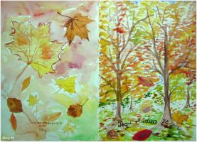 Postcard - both sides (Autumn inspiration) by ma-ry2004
