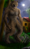 Commission for wolfbeast - Werewolf by FuriarossaAndMimma