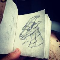 Dragon Sketch by TheoDingo