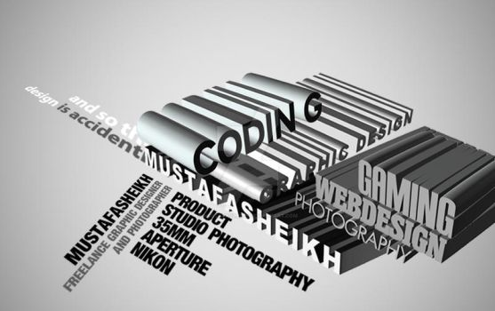 experimenting 3D type by mustafasheikh