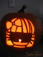 Gaga Kitty Halloween Pumpkin by Ayashii