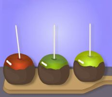 Chocolate Covered Apples by SparkleBat