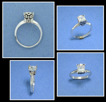 Autobot Engagement Ring by GipsonDiamondJeweler