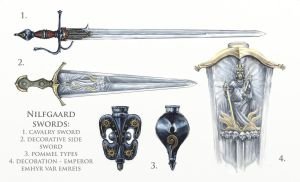 Nilfgaard swords by Merlkir