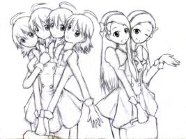 4 Headed Miki And 2 Headed Iori by jim830928