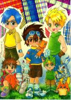 Digimon: Boys by Sakuragichan